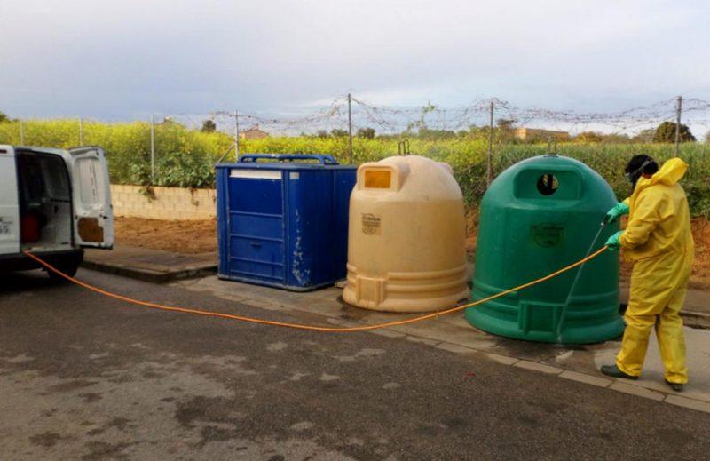 Desinfectamod 10.000 contenedores del Aljarafe